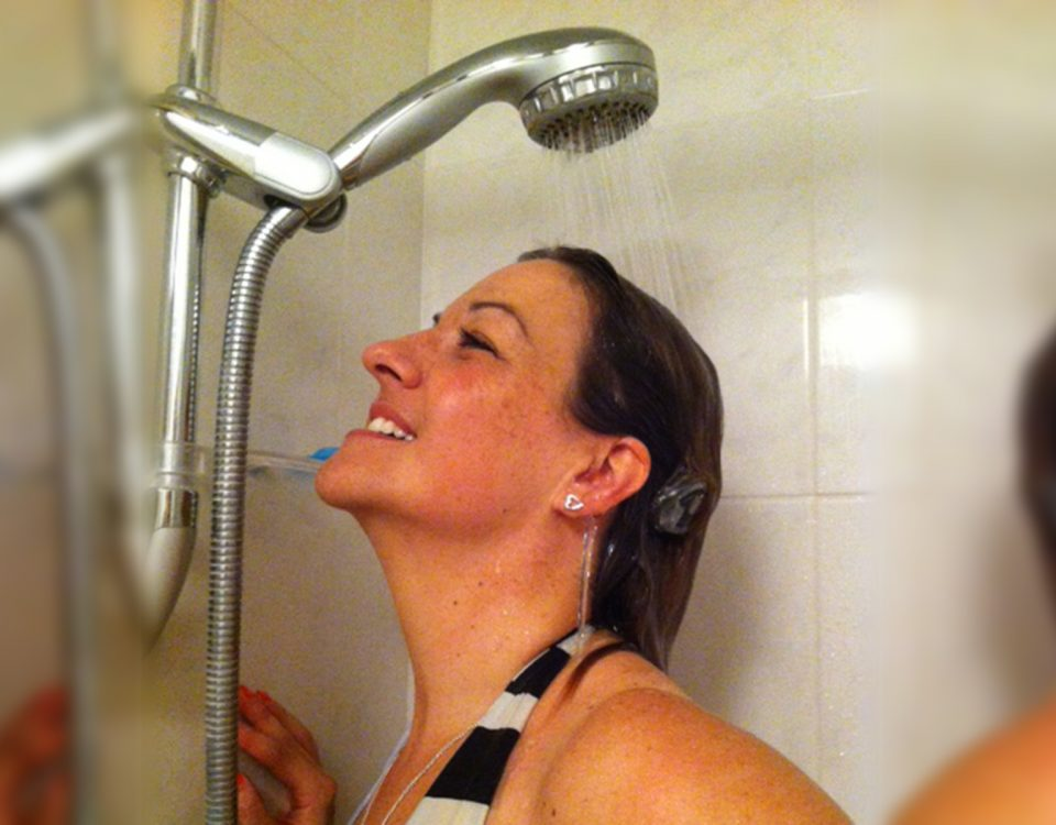Shower with a Cochlear Implant